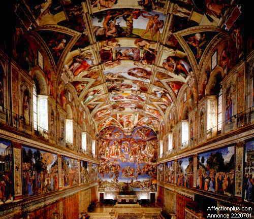 Michel ange les fresques de la chapelle sixtine - Fresque du plafond de la chapelle sixtine ...